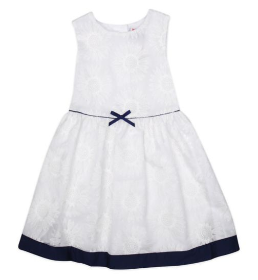 Mini Club Girls Sleeveless Dress White Floral