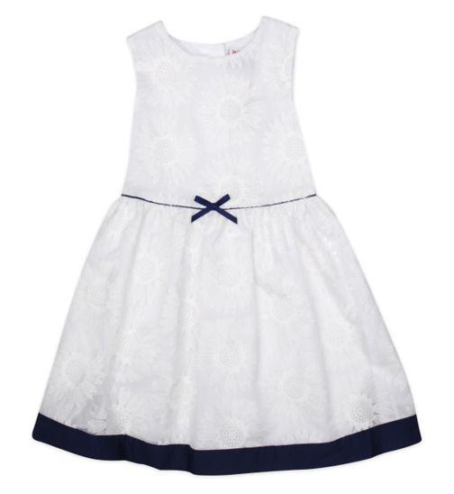 Mini Club Girls Sleeveless Dress White Floral