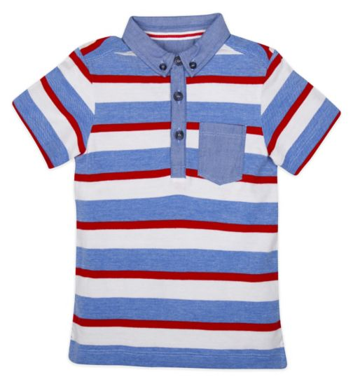 Mini Club Boys Short Sleeve Polo Stripe
