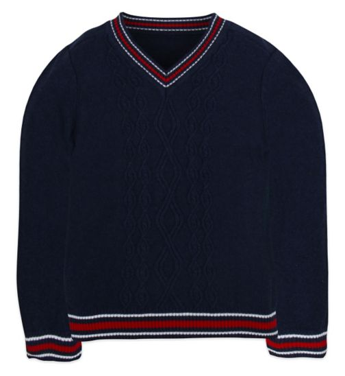 Mini Club Boys Jumper Navy Knit