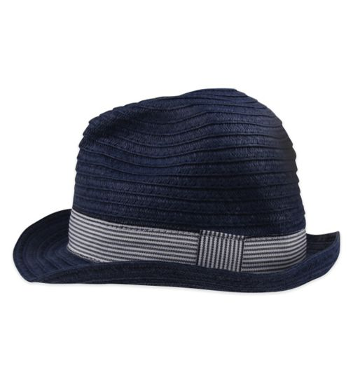 Mini Club Boys Straw Hat Navy
