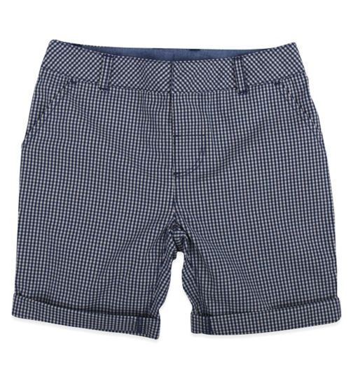 Mini Club Boys Short Navy Check