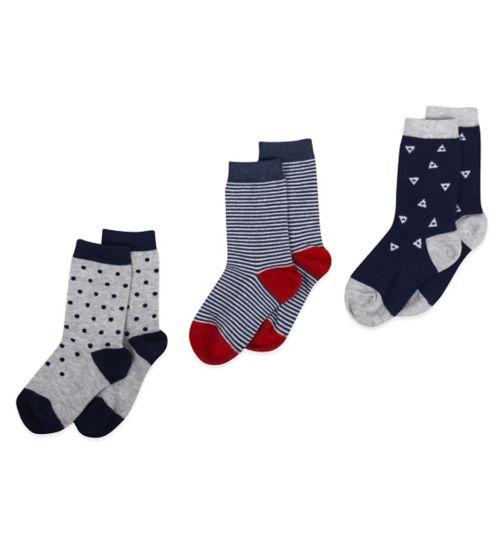 Mini Club Boys 3 Pack Socks Blue