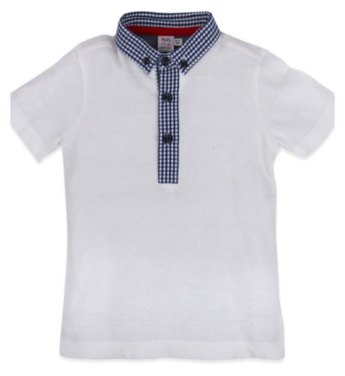 Mini Club Boys Short Sleeve Polo White