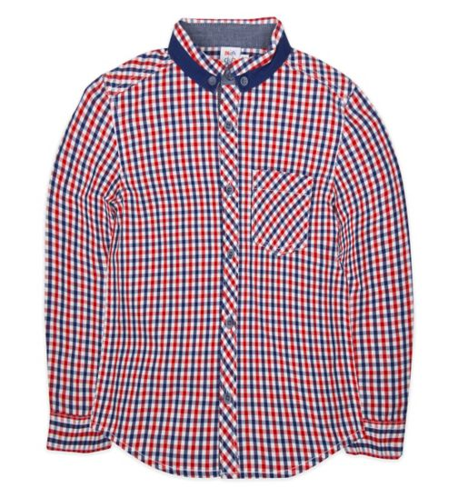 Mini Club Boys Shirt Red and Blue Check