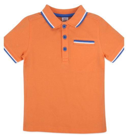 Mini Club Short Sleeve Polo Orange