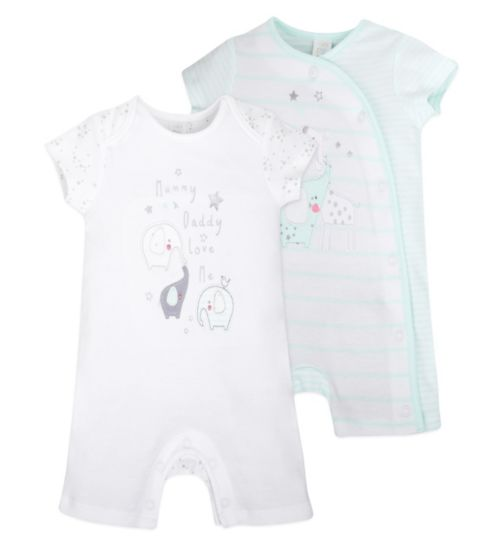 Mini Club Baby 2 Pack Romper Elephant and Stars