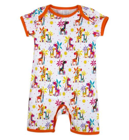 Mini Club Baby Girls Romper Giraffe