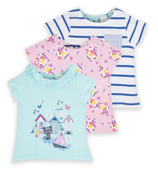 Mini Club Baby 3 Pack Tops Beach
