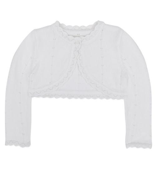 Mini Club Baby Girls Cardigan White