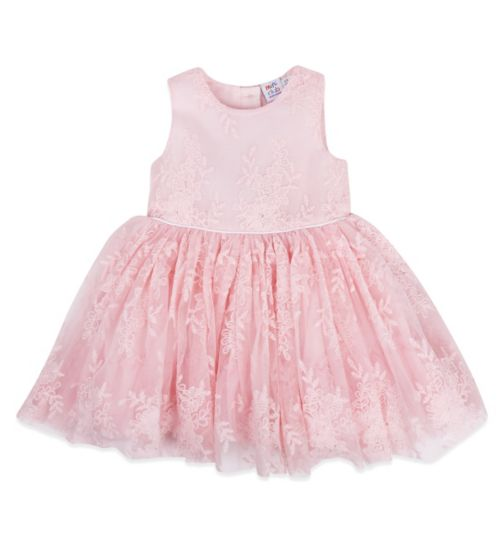 Mini Club Baby Girls Dress Pink Floral Lace