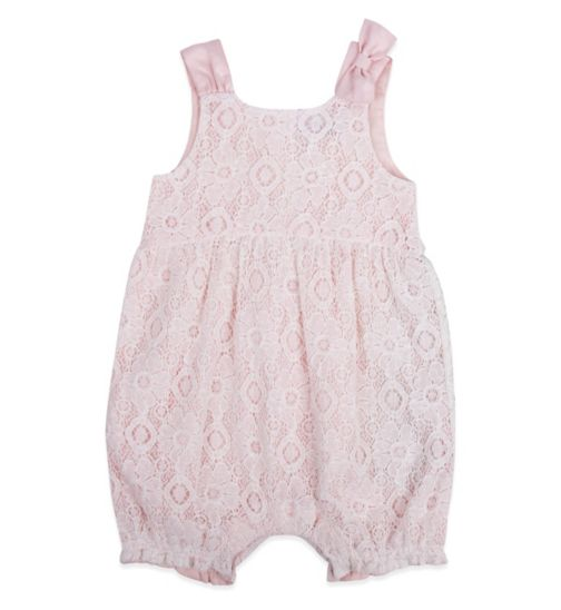 Mini Club Baby Girls Romper Pink Lace