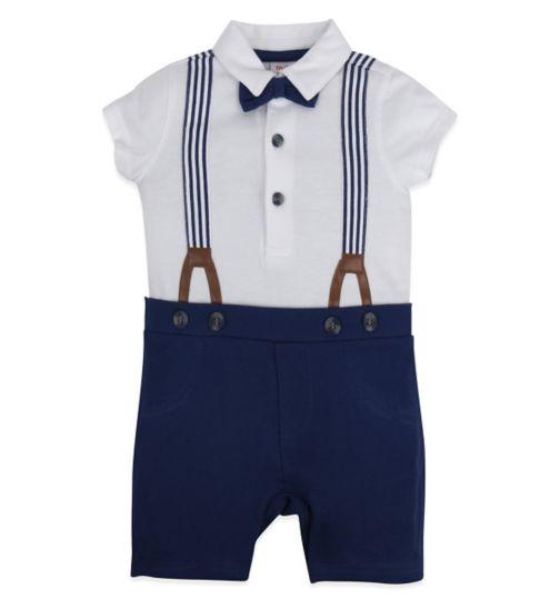 Mini Club Baby Boys Romper Blue