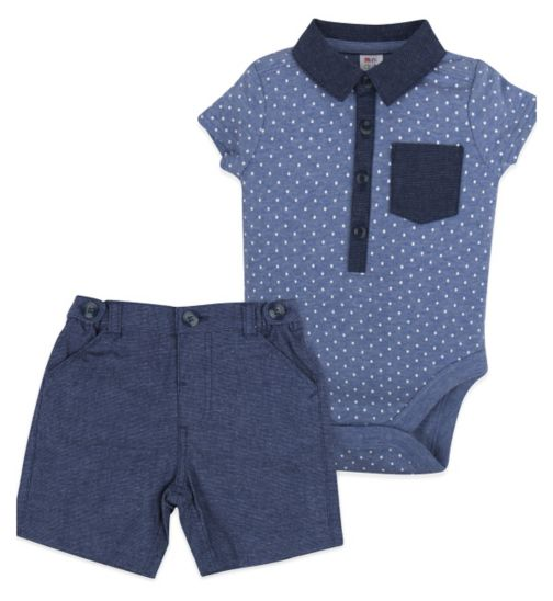 Mini Club Baby Boys Bodysuit and Short Set