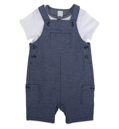 Mini Club Baby Boys Bib Short Set Blue