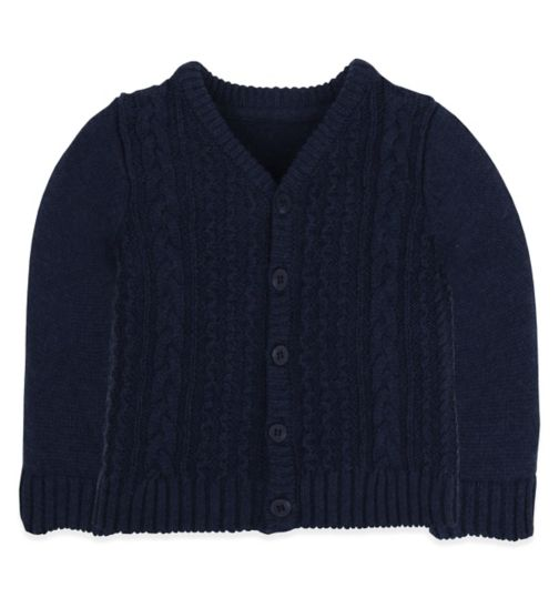 Mini Club Baby Cardigan Navy Knit