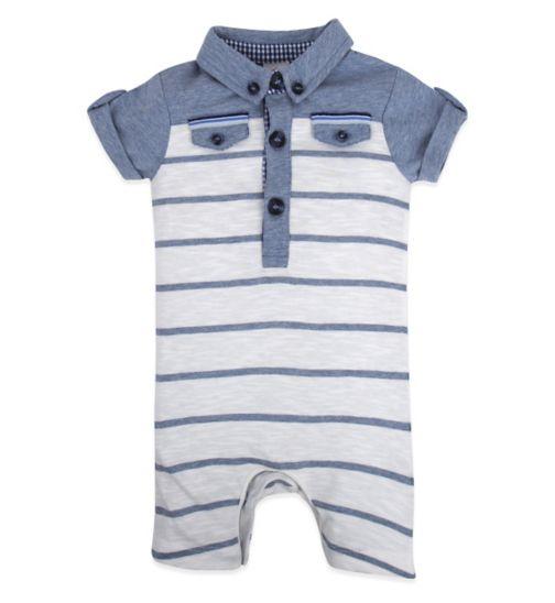 Mini Club Baby Boys Romper Blue Stripe