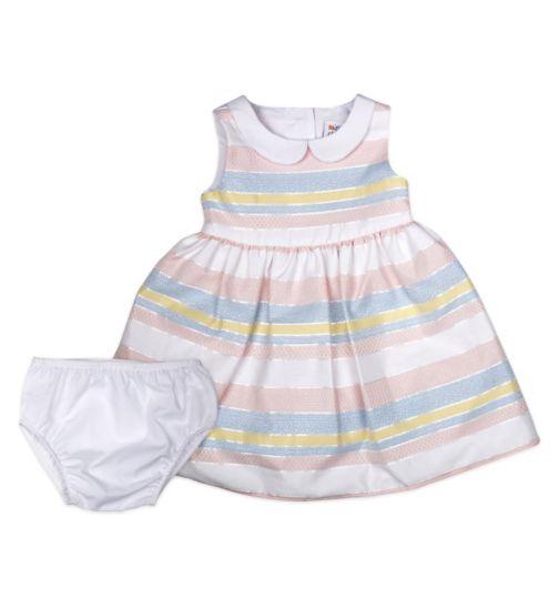 Mini Club Baby Girls Sleeveless Dress Pastel Stripe