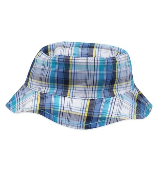 Mini Club Woven Hat Blue Check