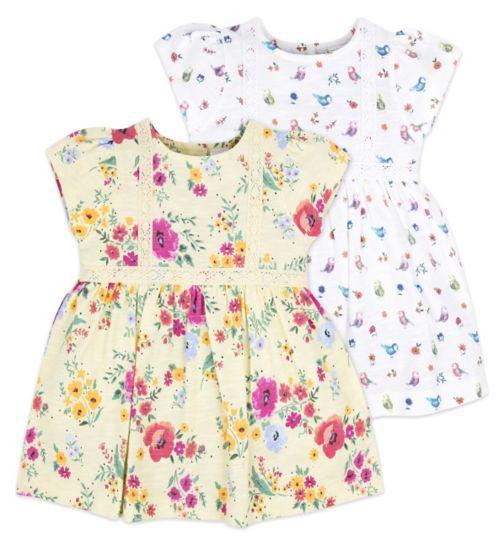 Mini Club Baby Girls 2 Pack Dress Floral