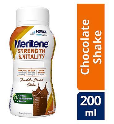 Meritene Strength and Chocolate Ready to Drink Shake, 200ml Bottle