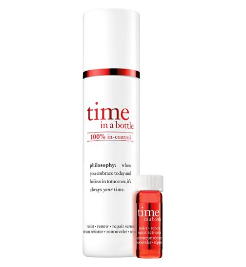 philosophy time in a bottle 100% in-control resist renew repair serum 40ml