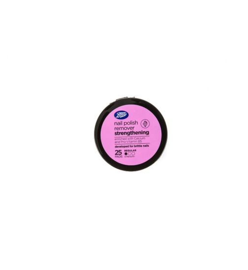 Boots Strengthening Nail Polish Remover Pads 25