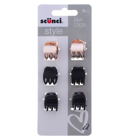 Scunci Style Jaw Clips 6pk