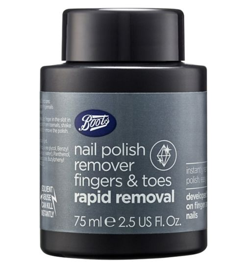 Boots Extra Strength Nail Polish Remover Fingers and Toes Pot 75ml