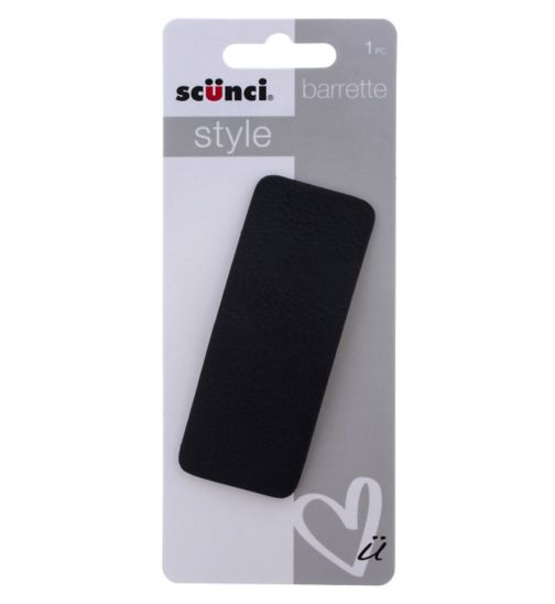 Scunci Style Leather Barrette