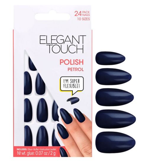Elegant Touch Polish Petrol Nails