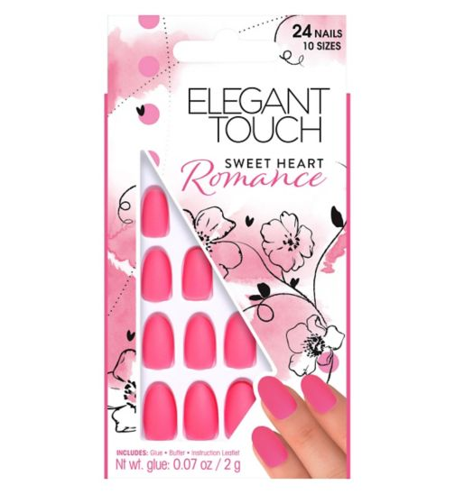 Elegant Touch Romance Collection Sweet Heart Nails