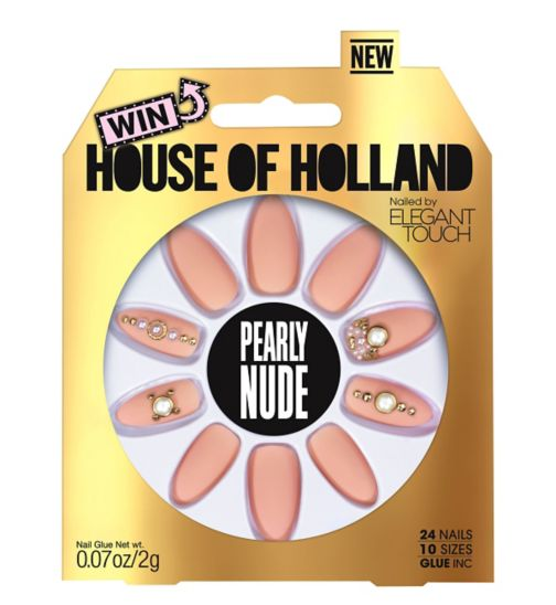 Elegant Touch House of Holland Luxe Nails Pearly Nude