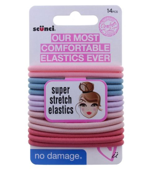Scunci Comfort Pastel Super Stretch Elastics 14pk