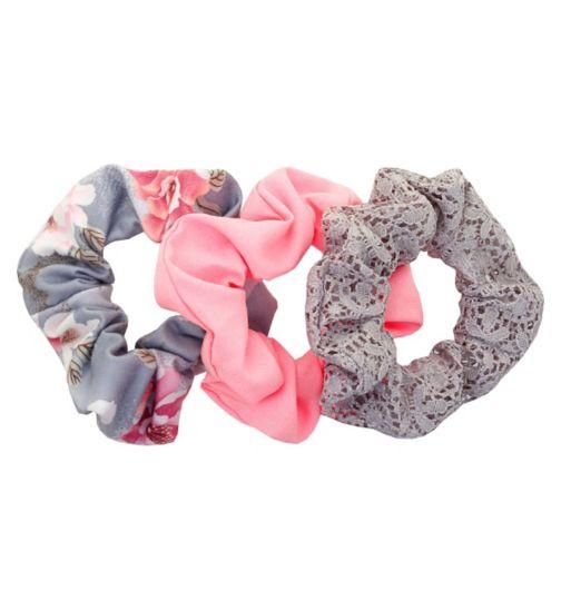 Scunci Style Floral Scrunchies 3pk