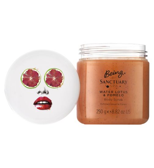 Being by Sanctuary water lotus and pomelo body scrub 250g