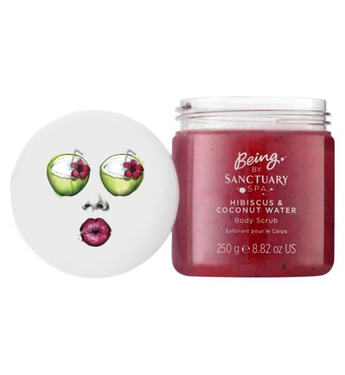 BEING by Sanctuary Spa Hibiscus and Coconut Water Body Scrub