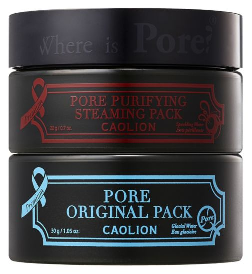Caolion premium hot and cool pore pack duo