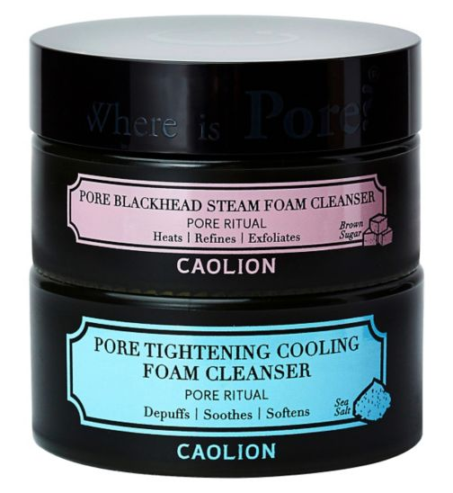 Caolion pore tightening hot and cool foam cleansing duo