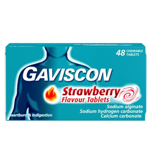 Gaviscon Strawberry Flavour Tablets - 48 Tablets