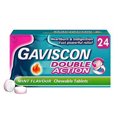 Gaviscon Double Action 24 Mint Flavour Chewable Tablets