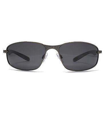 Freedom Sunglass Oval Metal Wrap Dark Gunmetal 26FRG145391