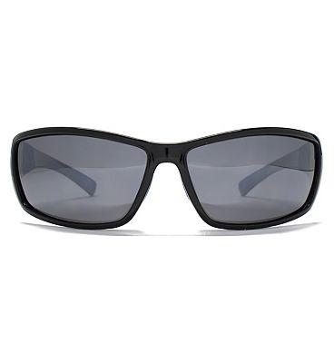 Freedom Sunglass Rubber Trim Wrap Shiny Solid Black 26FRG145389
