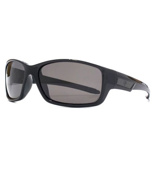 Freedom Mens Sunglasses Carbon Fibre Detail Wrap 26FRG145405