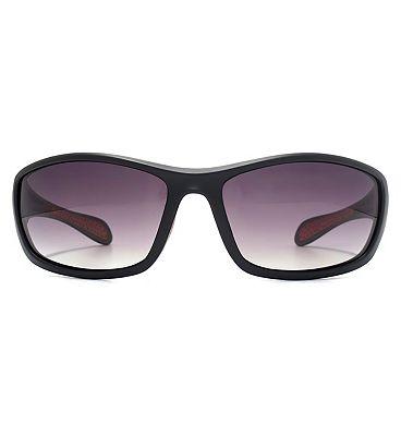 Freedom Sunglass Oval Plastic Wrap Matt Black 26FRG145406