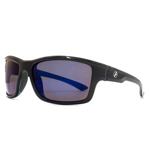 Freedom Mens Sunglasses Rubber Detail Square Wrap 26FRG145411