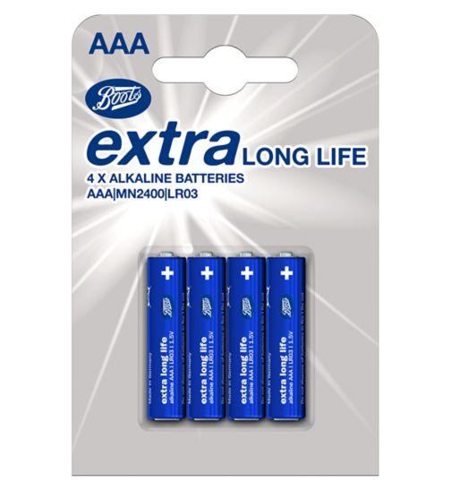 Boots XLL batteries AAA 4s