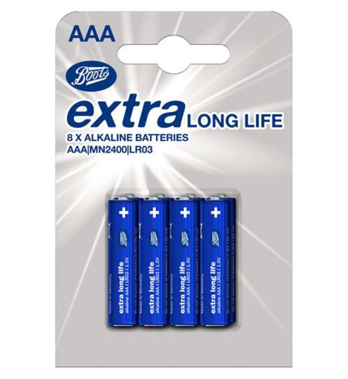 Boots XLL batteries AAA 8s