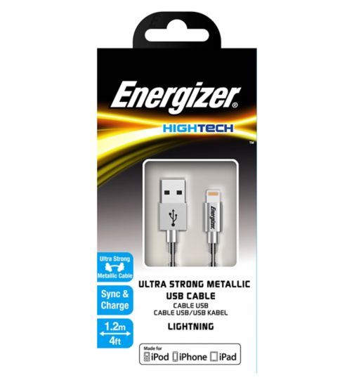 Energizer Hightech Metallic USB Lightning Cable