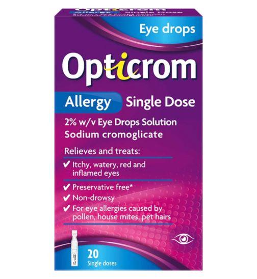 Opticrom Allergy Single Dose 2% w/v Eye Drops - 20 single doses